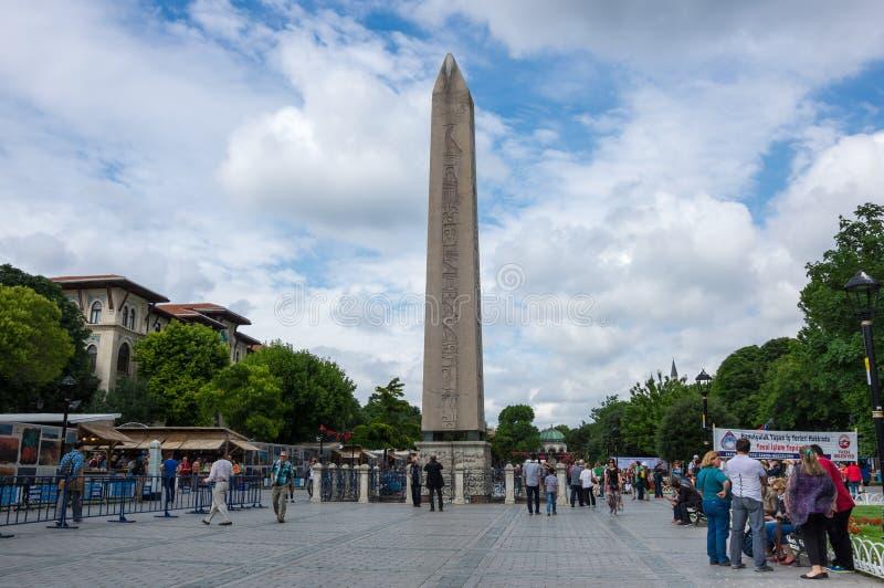 cesarz dworska twarz jego obelisku południe theodosius obrazy stock