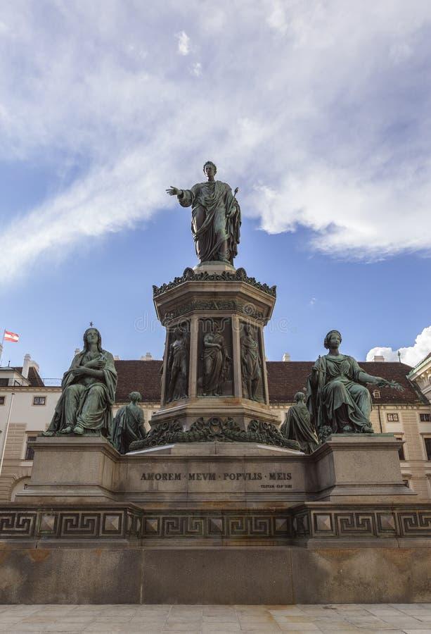cesarz Franz ja zabytek fotografia stock