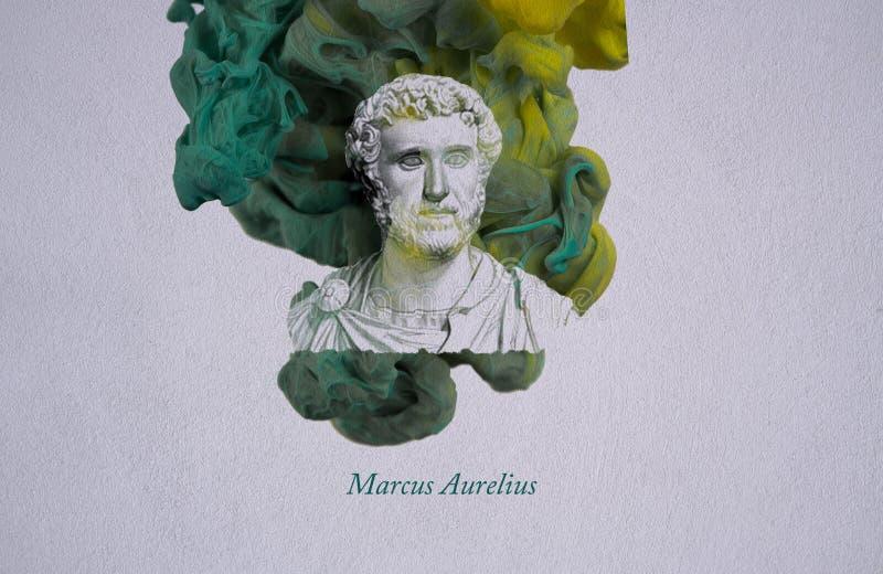 Cesarz Marcus Aurelius ilustracja wektor