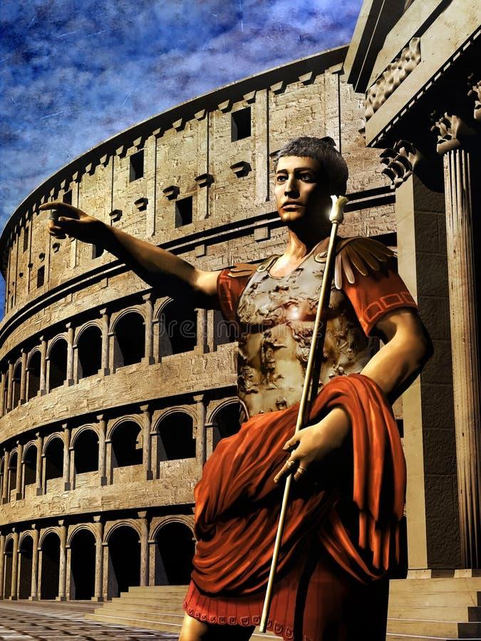 cesarz rzymski royalty ilustracja