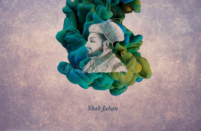 Cesarz Shah Jahan royalty ilustracja