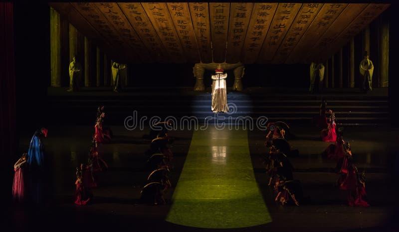 Cesarza Kangxi klasyczny Dworski taniec obrazy stock