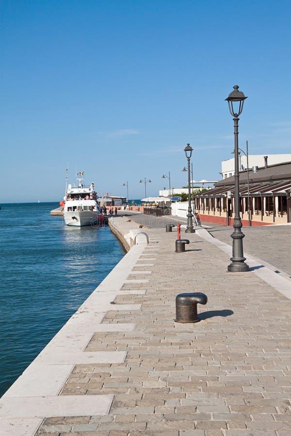 Cesenatico港口  免版税库存照片