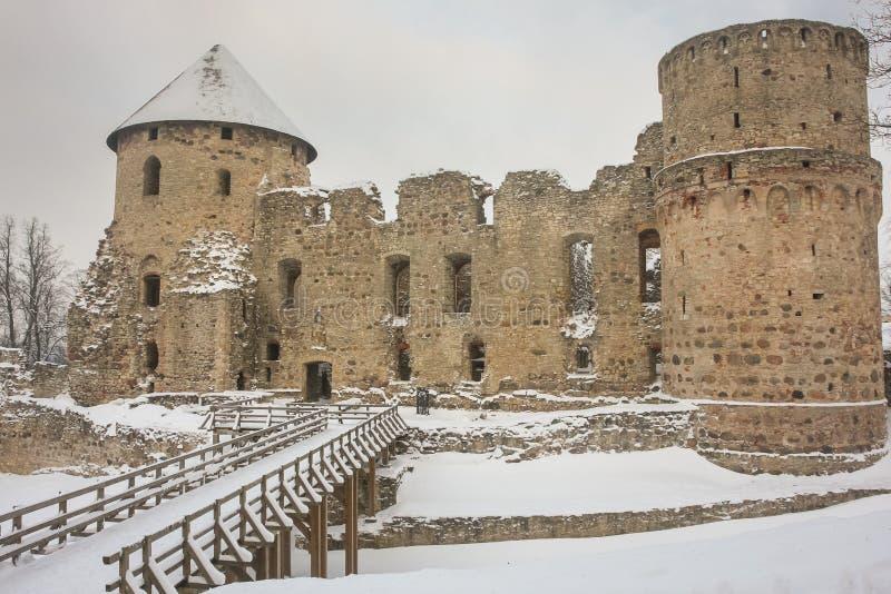Cesis城堡 免版税库存照片