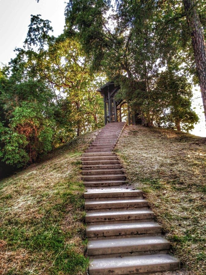 Cesis-Schloss-Park in Lettland lizenzfreies stockbild