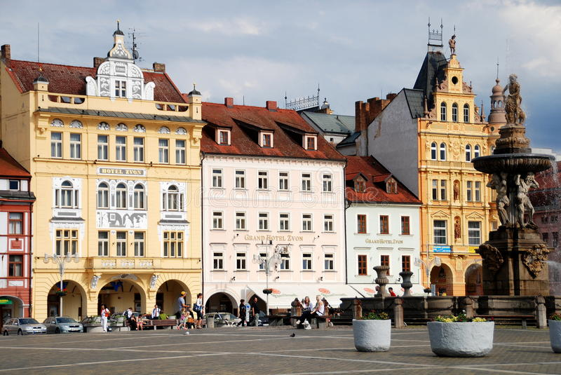 Download Ceske Budejovice, Czech Rep: Old Town Square Editorial Image - Image of premysla, handsome: 25633460