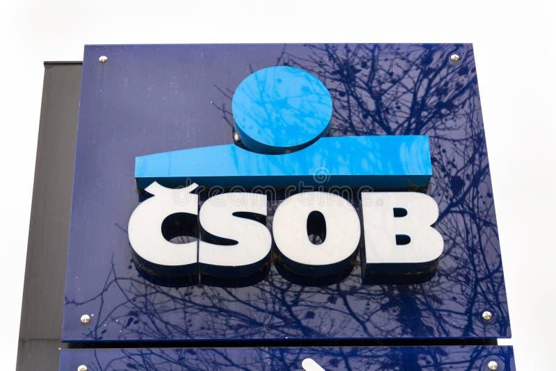 Ceskoslovenska obchodni banka CSOB bankowość i pieniężnej firmy logo fotografia royalty free