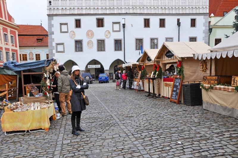 cesky αγορά Χριστουγέννων krumlov στοκ φωτογραφία με δικαίωμα ελεύθερης χρήσης