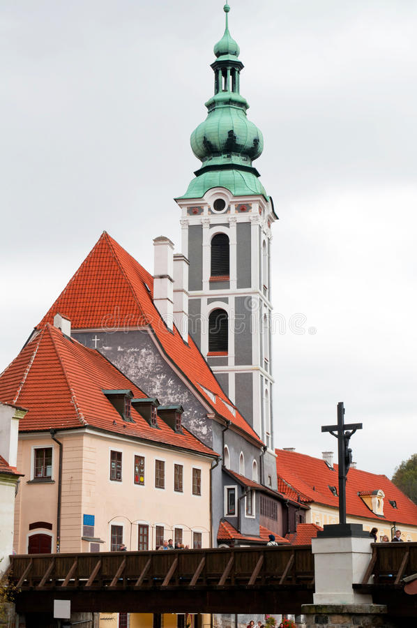 cesky krumlov церков стоковое изображение rf