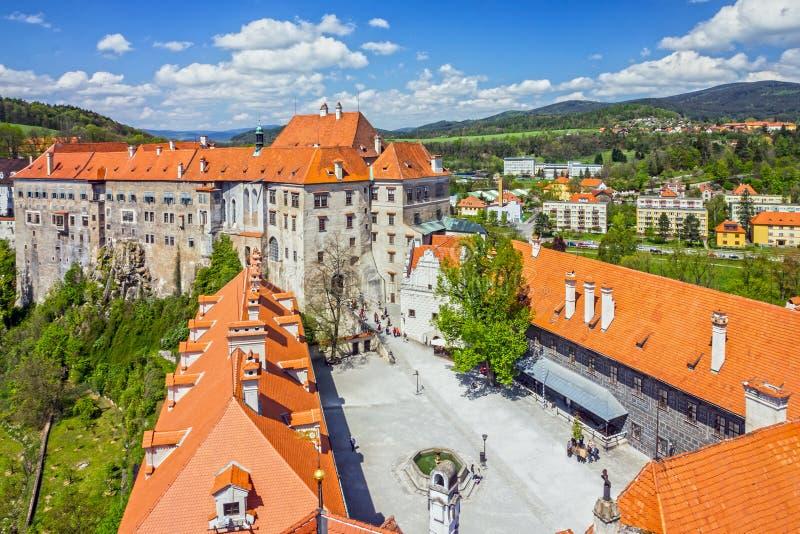 Cesky Krumlov castle, Czech Republic. royalty free stock photography