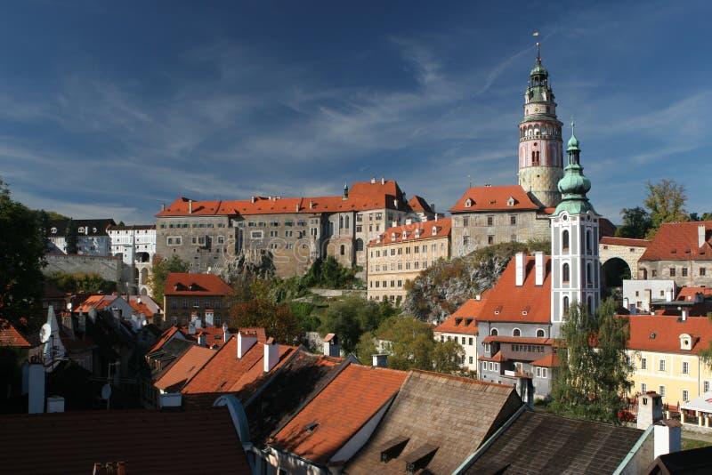 Cesky Krumlov Castle in South Bohemia stock image