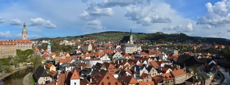 Cesky Krumlov - panorama. Panorama of city Cesky Krumlov, south bohemia, Czech republic, UNESCO herritage city stock photo