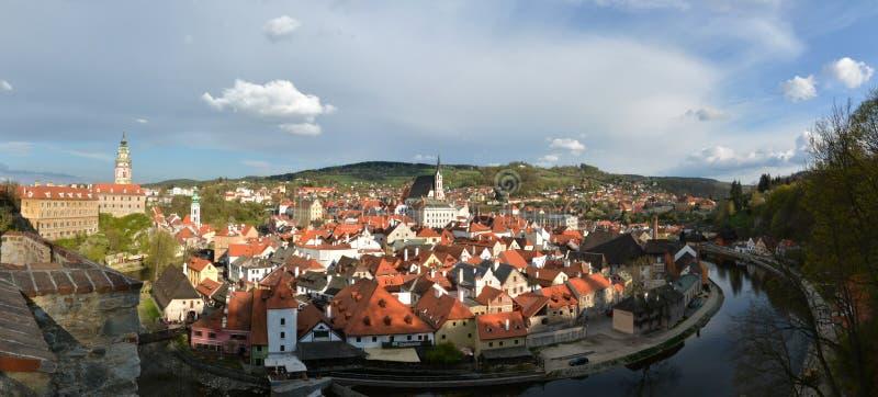 Cesky Krumlov - panorama. Panorama of city Cesky Krumlov, south bohemia, Czech republic, UNESCO herritage city royalty free stock image