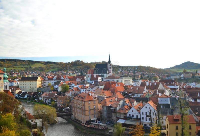 Cesky Krumlov. Panorama, Czech Republic royalty free stock images