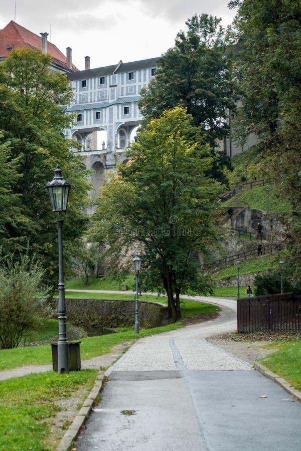 CESKY KRUMLOV, REPÚBLICA DE BOHEMIA/CZECH - 17 DE SETEMBRO: Estado Cas foto de stock royalty free