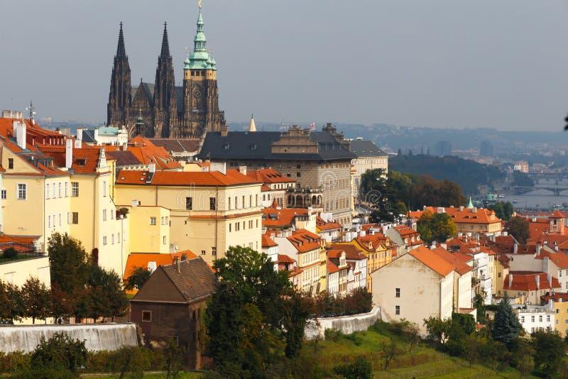 cesky krumlov republiki czech miasta średniowieczny stary widok Praga Widok Praga kasztel od Petrin wzgórza obrazy royalty free