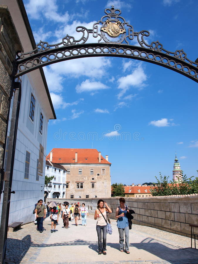 Download Cesky Krumlov Schloss, Tschechische Republik Redaktionelles Bild - Bild von reizend, kreisförmig: 26370715