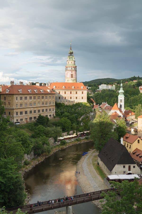 Cesky Krumlov slott arkivbild