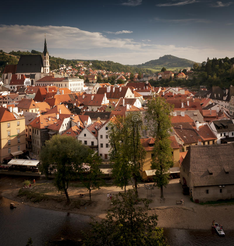 Download Cesky Krumlov Town stock image. Image of river, church - 80672421