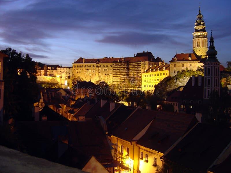 Cesky Krumlov, Tsjechische Republiek royalty-vrije stock foto's