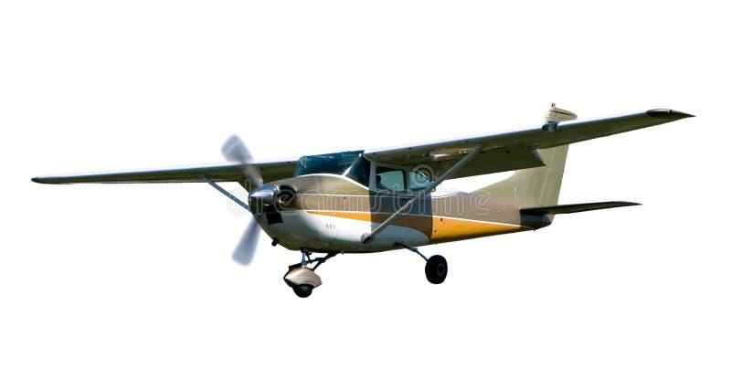Cesna samolot odizolowywający na bielu zdjęcia royalty free