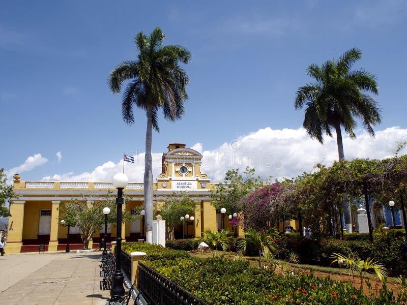 Cespedes Central Park i Trinidad arkivbilder