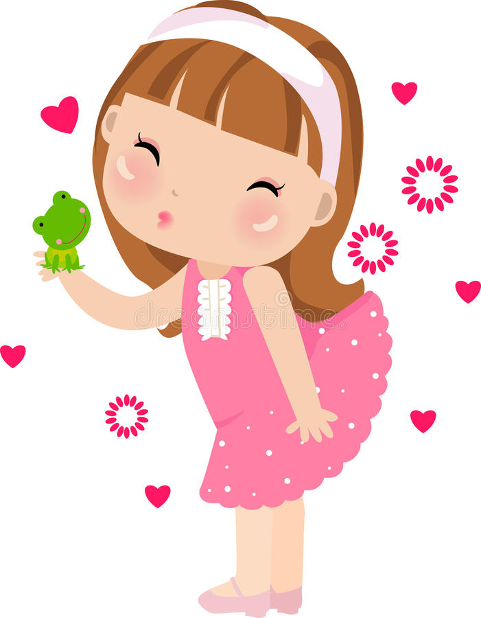 Cess kissing a frog vector illustration