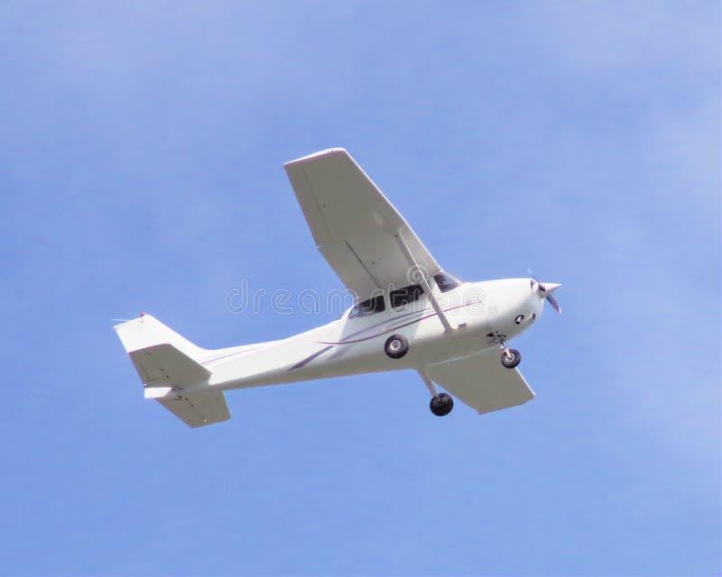 Cessena Skyhawk SP op benadering royalty-vrije stock foto's