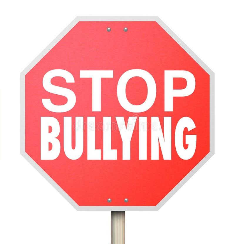 Cessez d'intimider les enfants moyens sélectionnant sur l'école de combat d'enfants illustration de vecteur
