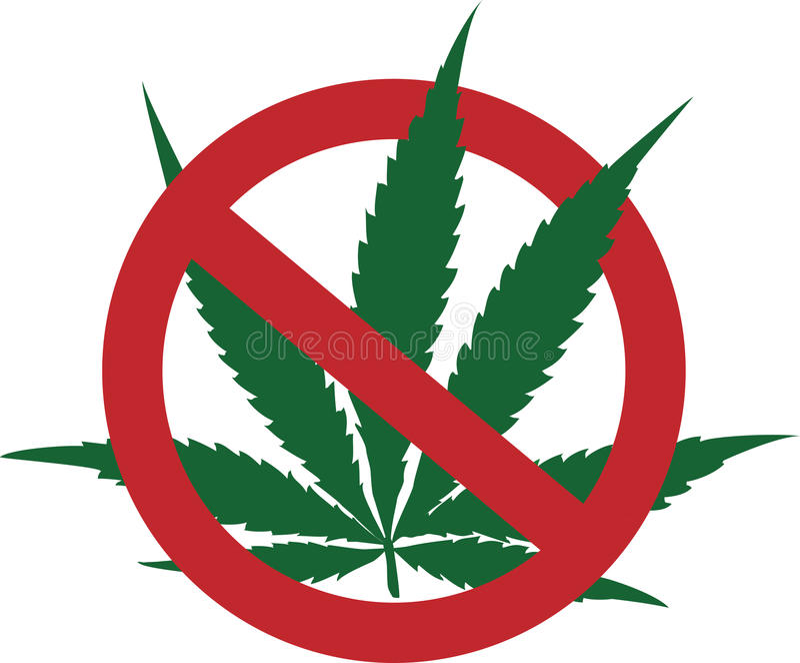 Cessez de fumer la marijuana illustration stock