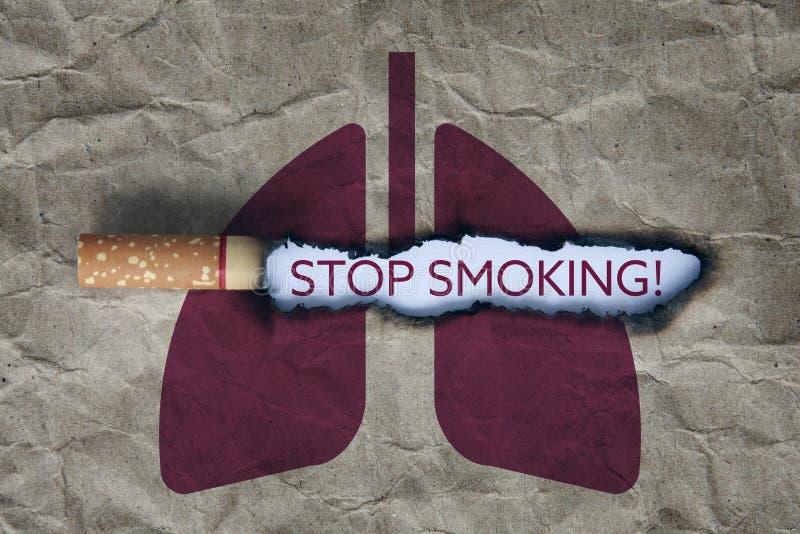 Cessez de fumer le concept photo libre de droits