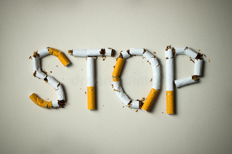 Cessez de fumer le concept photo stock
