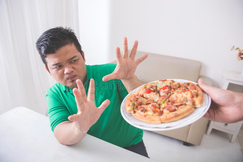 Cessez de manger de la nourriture industrielle malsaine photo stock