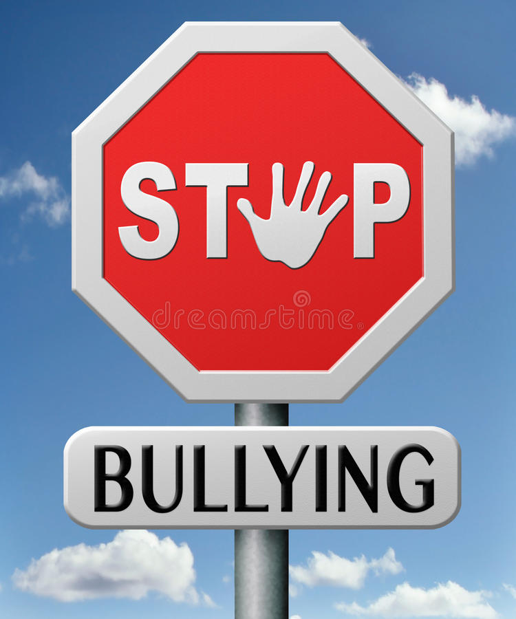 Cessez de n'intimider aucun despote d'école image libre de droits