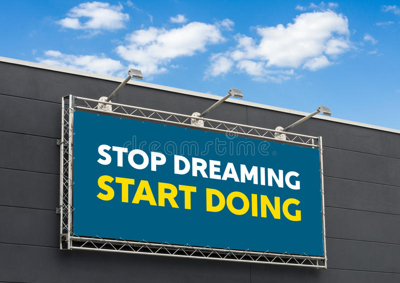 Cessez de rêver faire de début images libres de droits