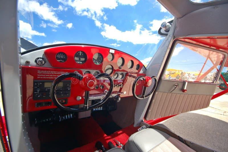 Cessna 140 cockpit stock afbeeldingen