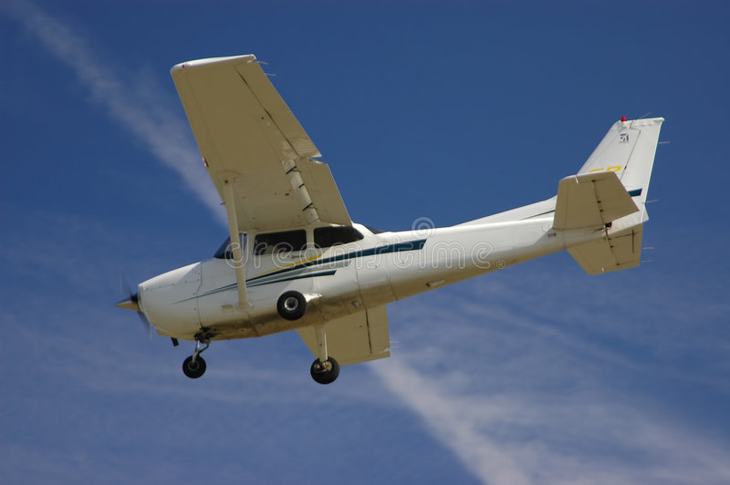 Cessna 172S on Final Approach stock image