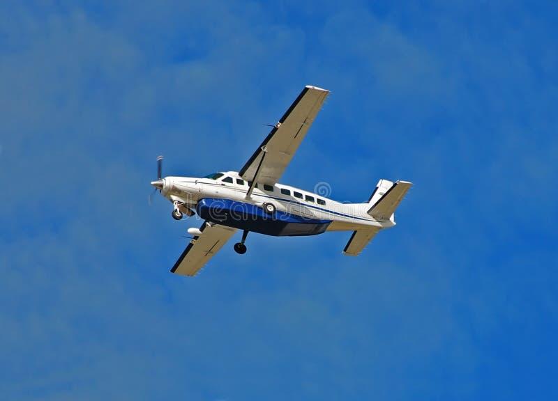 Cessna 208 Wohnwagenturboprop-triebwerk stockbild