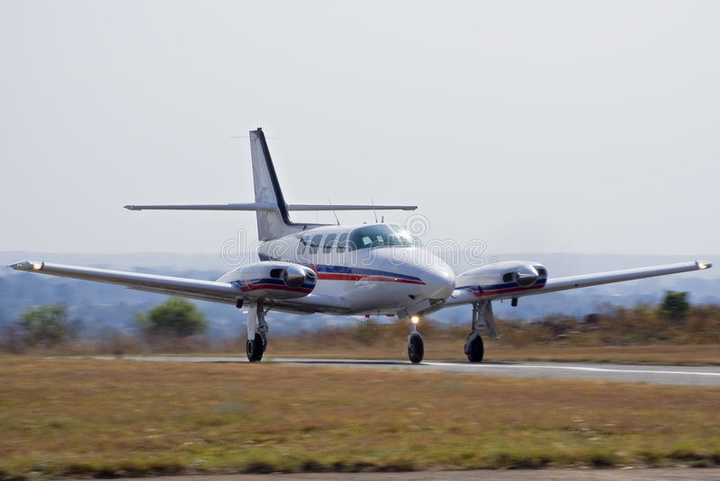 Download Cessna 303 Crusader Takeoff 01 Stock Photo - Image: 7648570