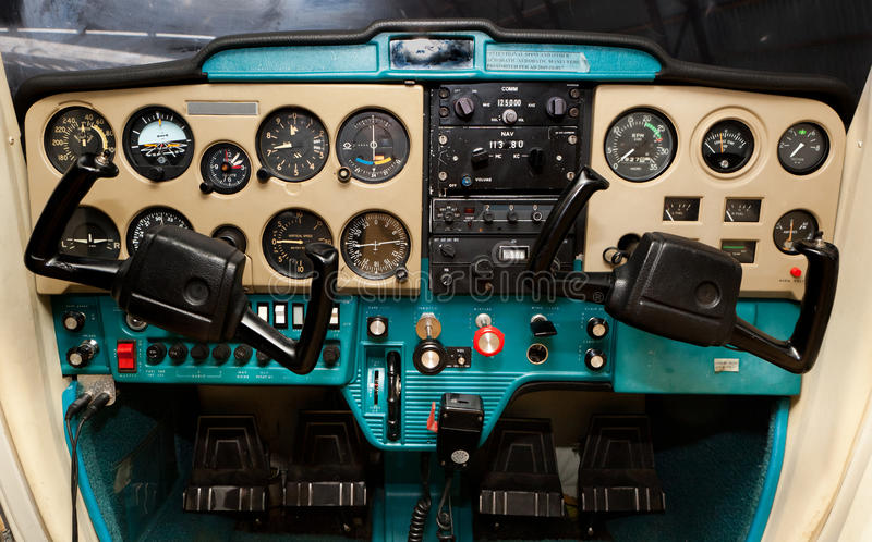 Cessna Cockpit stockfotos