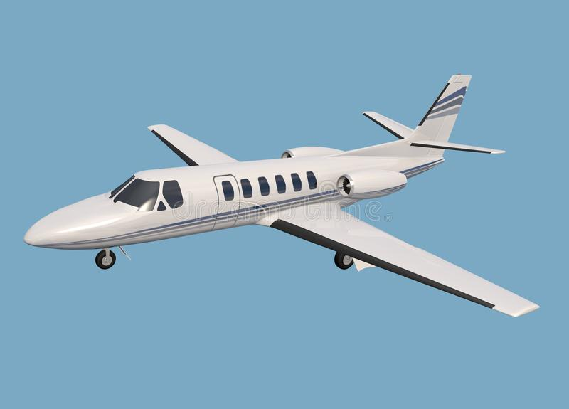Cessna 550 cytaci korporacyjny strumień royalty ilustracja