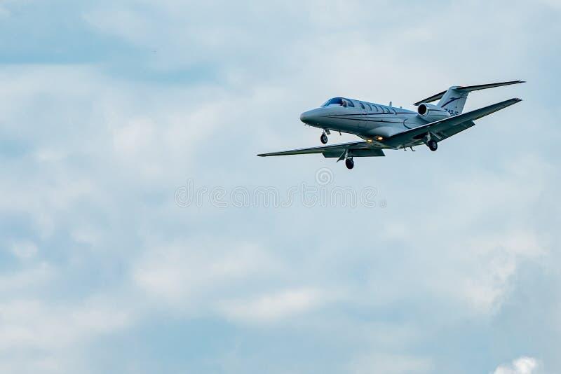 Cessna 525A decola fotos de stock royalty free