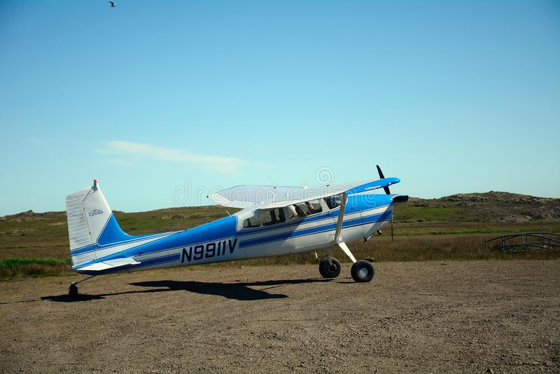 Cessna 182, Djupivogur, Iceland stock photos