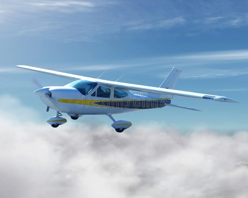 Cessna en vol photo stock