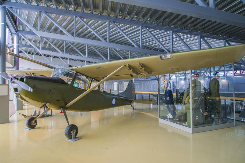 Cessna o-1a birddog. Was a liaison and observation aircraft, first flight 14 december 1949, the pictures are shot in march 2013 by norwegian armed forces royalty free stock photos