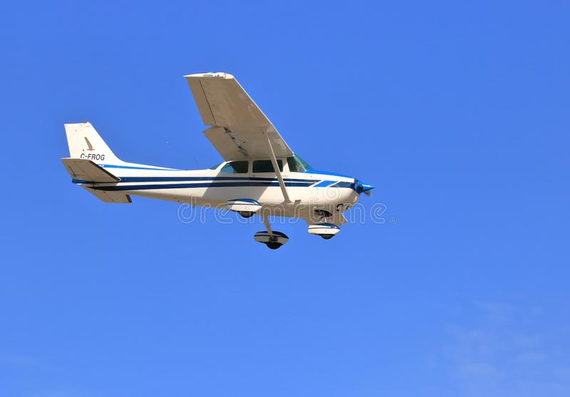 Cessna Side View Landing stock image