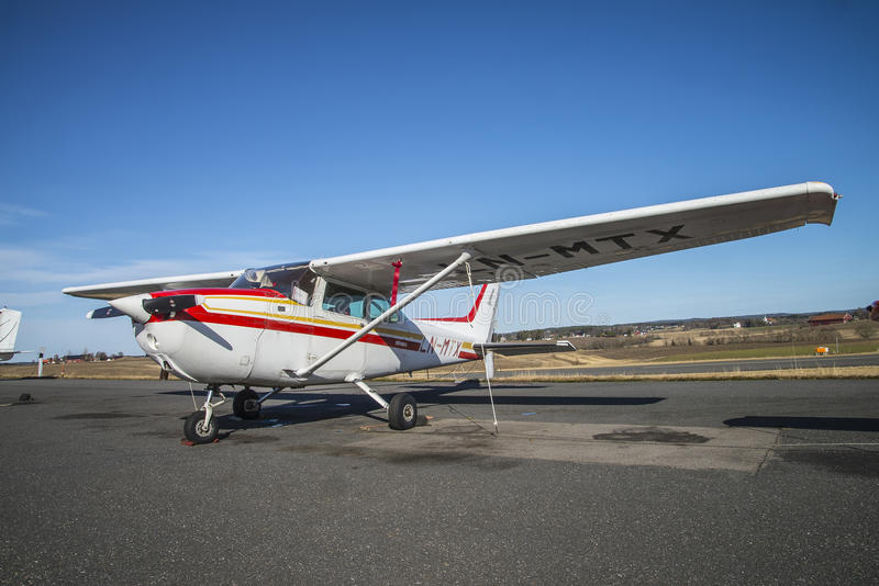 Cessna 172 Skyhawk. The Cessna 172 is a high-wing, four-seat, sport airplane produced by the U.S. Cessna Aircraft Company. The plane is built from aluminum and stock image
