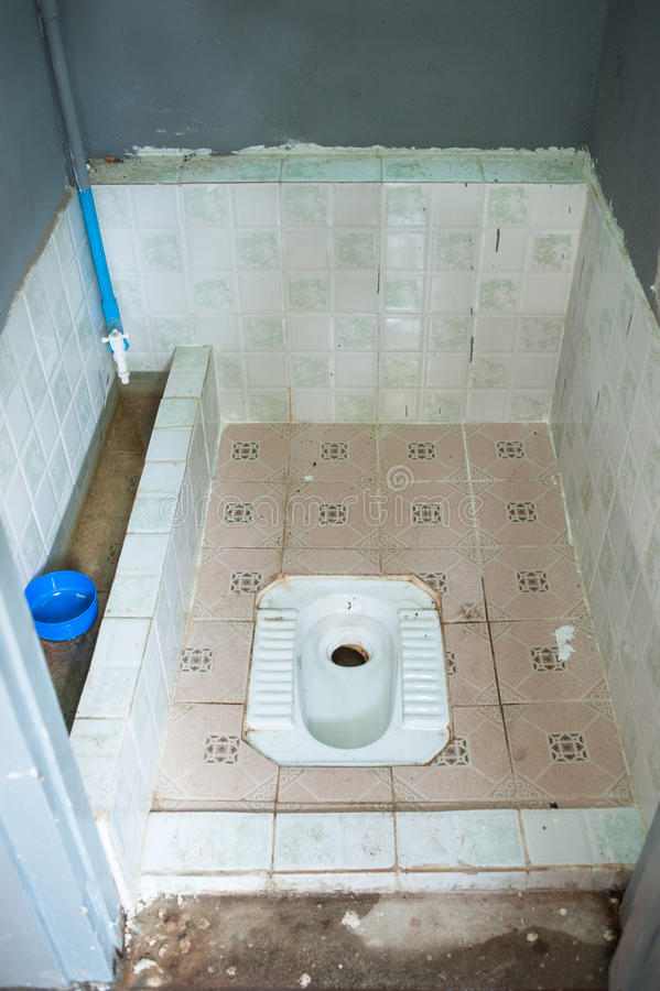 Cesspool Latrine. The toilet in countryside of thailand royalty free stock image