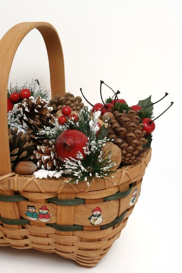 Cesta #2 de la Navidad imagenes de archivo
