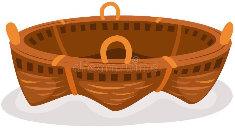 Cesta stock de ilustración